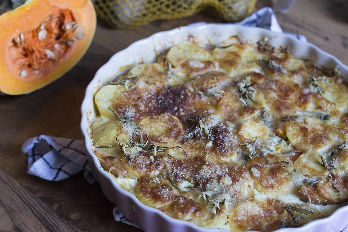 Dýňové hranolky a zapečená dýně s bramborami